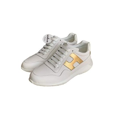 Hogan Womens Interactive? Suede Upper Smooth Leather Inserts Sneakers (6 M US) Black 並行輸入品