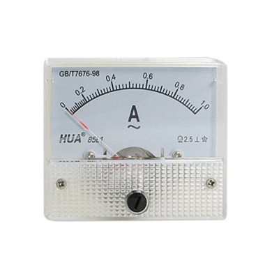 uxcell クラス 2.5 AC 0-1A アナログパネル電流メーターニュー