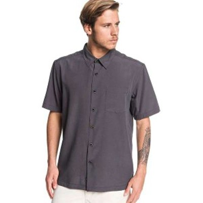 クイックシルバー メンズ シャツ トップス Quiksilver Men's Cane Island Shirt Black Cane Island