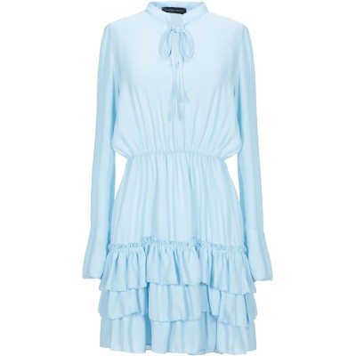VANESSA SCOTT ミニワンピース&ドレス スカイブルー M ポリエステル 100% ミニワンピース&ドレス