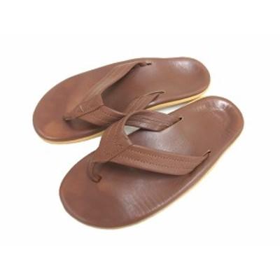 【中古】アイランドスリッパ ISLAND SLIPPER レザーサンダル ビーチサンダル 本革 8 茶色 ブラウン 靴 シューズ