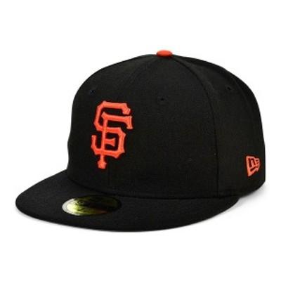 ニューエラ メンズ 帽子 アクセサリー San Francisco Giants 100th Patch 59FIFTY Cap Black