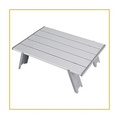 LCM Outdoor Folding Table Beach Camping Backpacking Portable Table with Carry Bag Ultralight Mini Garden Picnic Desk (Color : Silver)【並