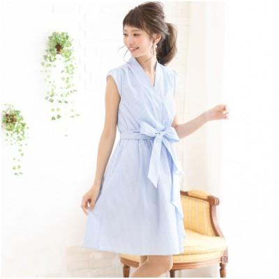 ウエストリボンシャツワンピース (ワンピース)Dress