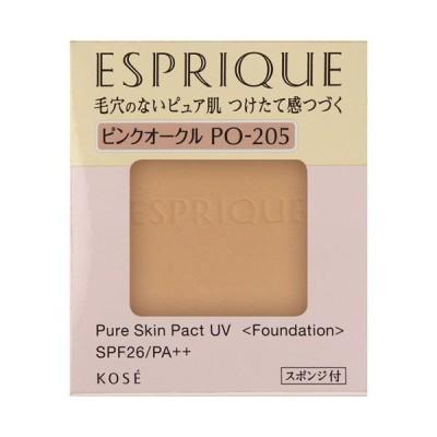 【ポイント10% 10月17日】エスプリーク ピュアスキン パクト UV(PO-205 ピンクオークル) ファンデーション