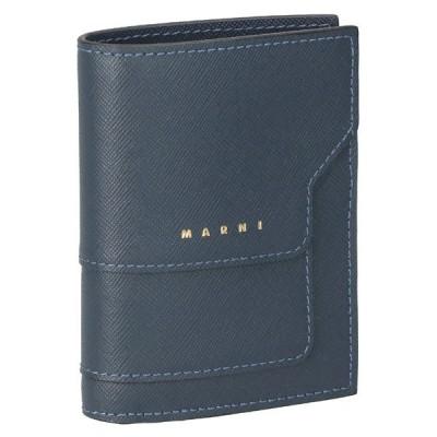 マルニ MARNI 折財布 二つ折り財布 ミニ財布 BI-FOLD バイフォールドウォレット レディース PFMOQ14U07 LV520 Z467N ダークブルー