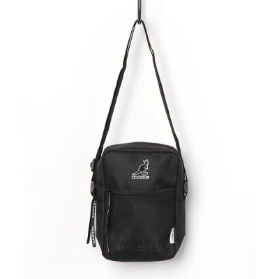 ショルダーバッグ バッグ 【KANGOL / カンゴール】 刺繍ロゴ メッシュポケット ショルダー ポーチ / ショルダーバッグ