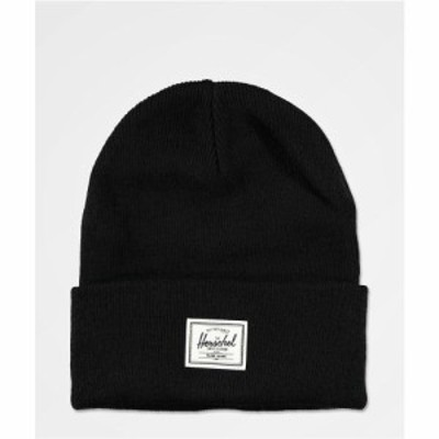 ハーシェル サプライ HERSCHEL SUPPLY レディース ニット ビーニー 帽子 Herschel Supply Co. Elmer Black Beanie Black