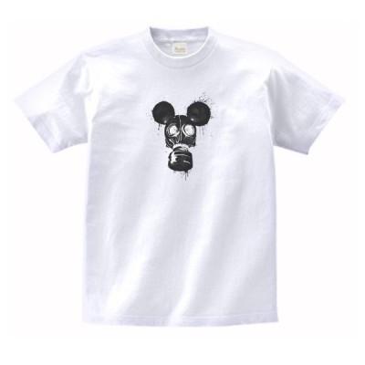 ネズミのガスマスク デザイン・アート Tシャツ