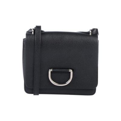 BURBERRY メッセンジャーバッグ ブラック 山羊革 100% メッセンジャーバッグ