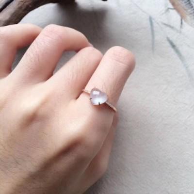 80  k18 翡翠 ヒスイ高級なリング 贅沢指輪 受注制作