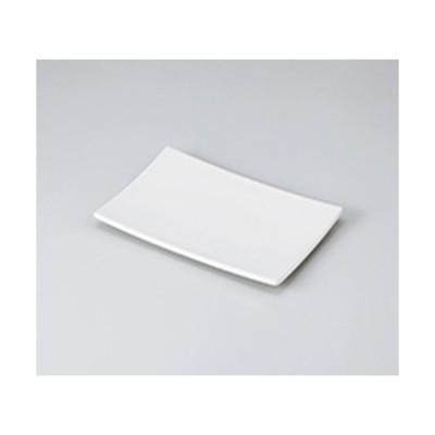 焼物皿 和食器 / 白菫21cm焼物皿 寸法:21 x 14 x 2.2cm