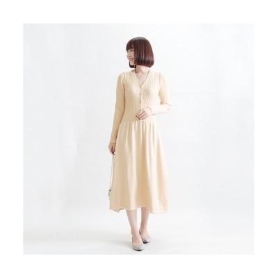 MARTHA(マーサ) リブトップニットワンピース (ワンピース)Dress