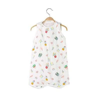 ベビー服スリーパー 寝袋 ガーゼ 女の子 男の子 柔らかく お昼寝 寝冷え防止 通気性 出産祝い 花柄S