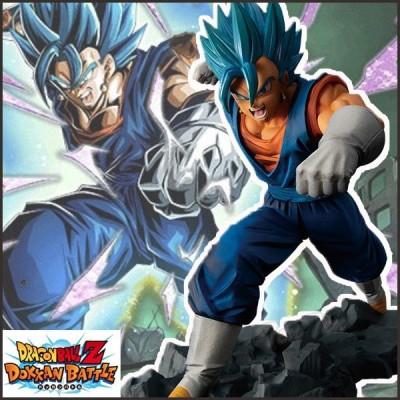 ドラゴンボール サイヤ人ブルー ベジット フィギュア DRAGONBALL Z DOKKAN BATTLE COLLAB 超サイヤ人ゴッド超サイヤ人ベジット