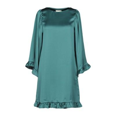 セミクチュール SEMICOUTURE ミニワンピース&ドレス グリーン 38 ポリエステル 100% ミニワンピース&ドレス
