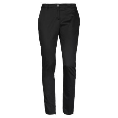 ラブ モスキーノ LOVE MOSCHINO パンツ ブラック 42 コットン 51% / レーヨン 46% / ポリウレタン 3% パンツ