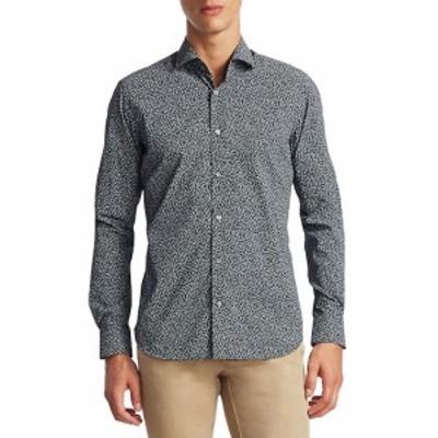 サックスフィフスアベニュー Men Clothing COLLECTION Ditsy Printed Cotton Button-Down Shirt