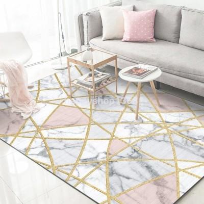 洋風 北欧 ラグ 洗える ラグマット モダン おしゃれ ペルシャ絨毯風 ラグカーペット センターラグ じゅうたん 長方形 2畳 3畳 幾何学柄 花 デザイン