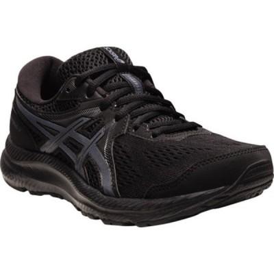 アシックス スニーカー シューズ レディース GEL-Contend 7 Running Sneaker (Women's) Black/Carrier Grey