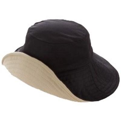 紫外線カット 折りたためるリバーシブルUV帽子 つば幅約12cm ボーン入り サンファミリー
