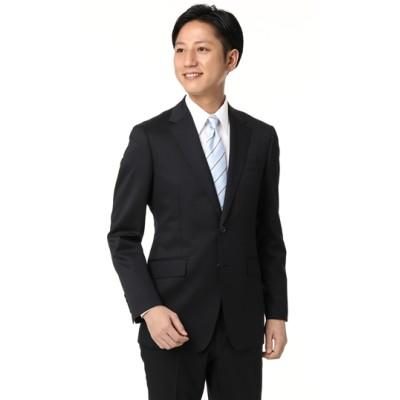 スタイリッシュスーツ【ツーパンツ】【ネイビー無地】
