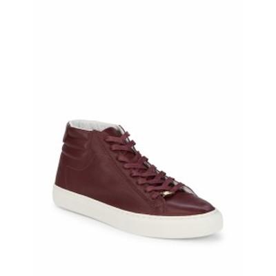 トゥルー リリジョン メンズ スニーカー Leather Lace-Up Hi-Top Sneakers