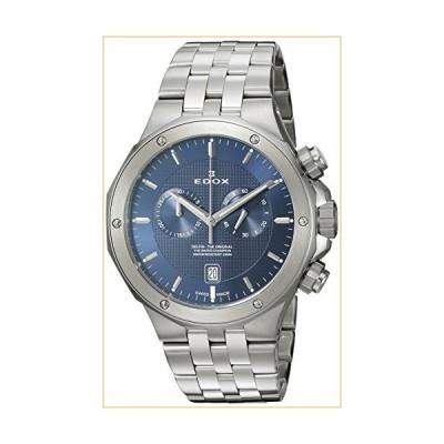 Edox Men's Delfin Quartz Watch with Stainless-Steel Strap, Silver, 24 (Model: 10110 3M BUIN) 並行輸入品