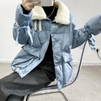 ダウンコート 女性 コート レディース  中綿 コート フワフワコート 防寒ホワイト フォックスファー 上着 秋 冬 無地 防風 防寒 2020新作