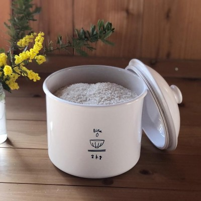 キッチン 家電 キッチン用品 キッチングッズ 米びつ ホーローのようなライスカン 2.3L 米びつ(2kg用) WX1024