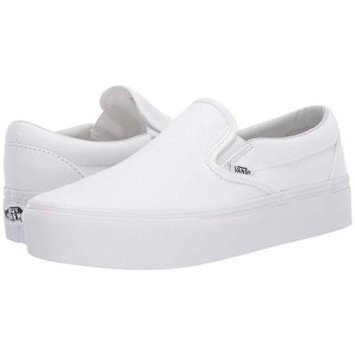 バンズ Classic Slip-On Platform メンズ スニーカー 靴 シューズ True White