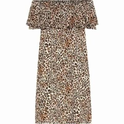ベルベット グラハムandスペンサー Velvet レディース ワンピース ワンピース・ドレス taye leopard-print dress Leopard