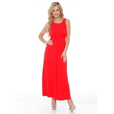 ホワイトマーク ワンピース トップス レディース Women's Katherine Maxi Dress Red