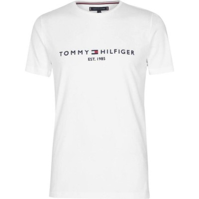 トミー ヒルフィガー Tommy Hilfiger メンズ Tシャツ ロゴTシャツ トップス Logo T Shirt White