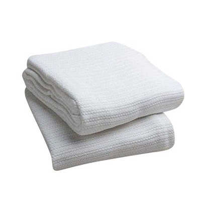 Head2Toe 100%コットン 病院用保温毛布 オープンウィーブコットンブランケット 通気性 オーバーヒート防止 ソフト