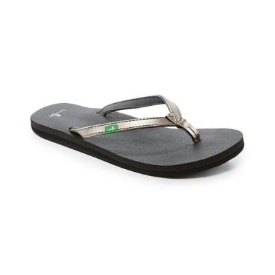 サヌーク レディース サンダル シューズ Yoga Joy Flip Flop Sandals Pewter