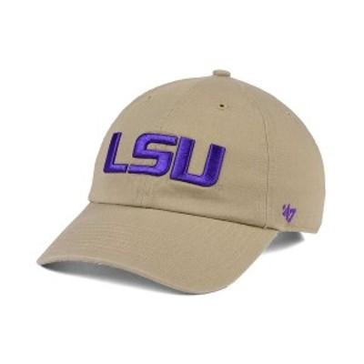 47ブランド メンズ 帽子 アクセサリー LSU Tigers CLEAN UP Cap Khaki