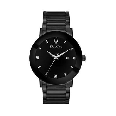 ブロ-バ メンズ ステンレススチ-ル製カジュアル腕時計 モダンクオ-ツ 色:ブラック (モデル: 98D144)