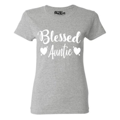 レディース 衣類 トップス Shop4Ever Women's Blessed Auntie Graphic T-Shirt Tシャツ