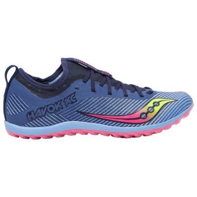 サッカニー Saucony レディース 陸上 シューズ・靴 Havok XC2 Flat Blue/Citron/Vizi Pink