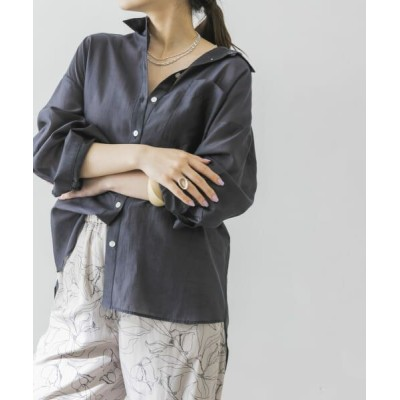URBAN RESEARCH/アーバンリサーチ 【WEB限定】カラーシアーシャツ CHARCOAL FREE
