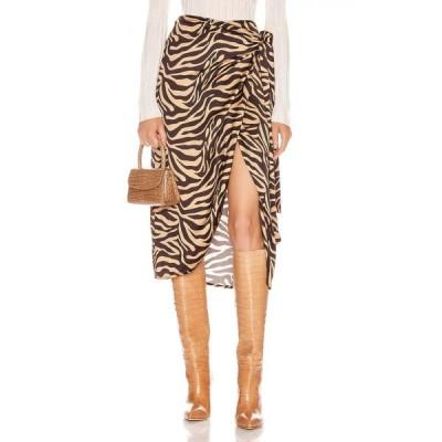 アンダマン ANDAMANE レディース ひざ丈スカート ラップスカート スカート camilla wrap midi skirt Zebra Sand