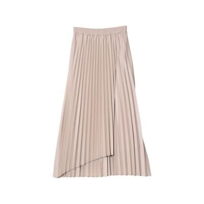 リエディ Re:EDIT [低身長サイズ有]シアーシフォンラッププリーツスカート (グレージュ)