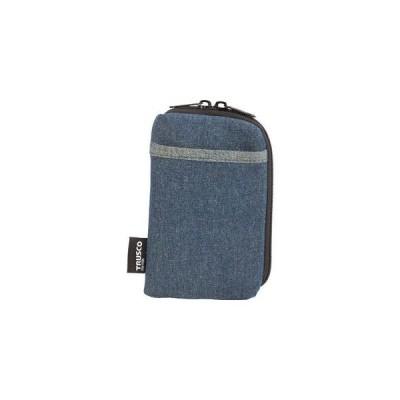 トラスコ中山 デニムスマホケース 2ポケット ブルー ツールホルダ TDC-S101 返品種別B