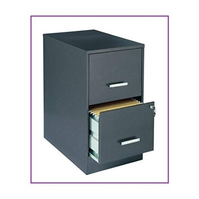 "Lorell Office Dimensions 22"" Deep 2 Drawer Letter-Sized Metal File Cabinet, Metallic Charcoal (16871)(並行輸入品)"