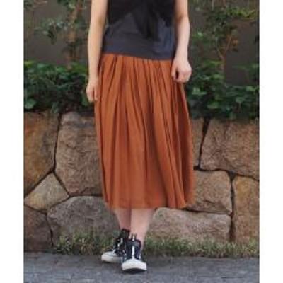 INTERPLANET(インタープラネット)シルキーローンギャザースカート