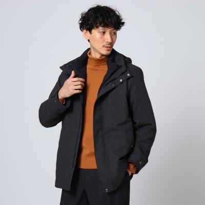 タケオ キクチ TAKEO KIKUCHI 【Sサイズ~】ツイードライク3WAYダウンライナーブルゾン (チャコールグレー)