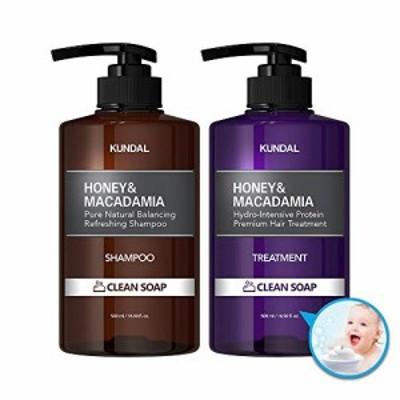 [kundal公式]プレミアムヘアケアスペシャルセット クリーンソープ・シャンプー500ml&トリートメント500ml premium hair care special se