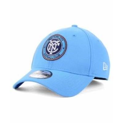 ニューエラ メンズ 帽子 アクセサリー New York City FC Team Classic 39THIRTY Stretch Fitted Cap Blue