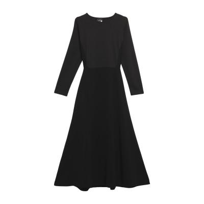 ゴータ GOTHA 7分丈ワンピース・ドレス ブラック S レーヨン 100% 7分丈ワンピース・ドレス